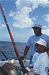 CAY93LS5_11 Million Dollar Month fishing tournament: United States Football League players compete; Grand Cayman, Cayman Is. Copyright Tropix (Lynn Seldon)