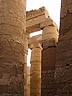 EGY09VJB515 Huge decorated columns in Great Hypostyle Hall, Precinct of Amon-Re, Temple of Karnak, Luxor (ancient Thebes), Egypt. Copyright Tropix (V. and M. Birley)