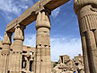 EGY09VJB525 Closed Papyrus flowers atop columns in Great Hypostyle Hall; Temple of Karnak; Luxor (ancient Thebes), Egypt. Copyright Tropix (V. and M. Birley)