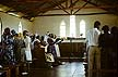 JS24_26-2 Smartly dressed congregation sing hymns in St Lukes Church; music; religion. Lundha, Luo area, Kenya. Copyright Tropix (J. Schmid)