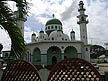 TRN07RB341 Jinnah Memorial Mosque, Muslim League; modern domed building, twin minarets, scalloped arches; Port of Spain, Trinidad. Copyright Tropix (Roland Birley)