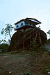 VEN82PH5_14 House raised high on rock safe from flooding & mosquitoes. Puerto Ayacucho, Amazonas, Venezuela. Copyright Tropix (P. HENLEY)